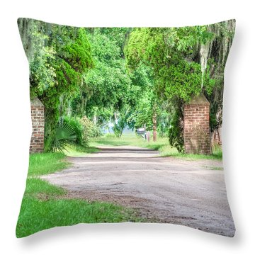 Chisolm Island Plantation - Brick Pillars Throw Pillow