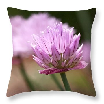 Chives Throw Pillow by Rona Black