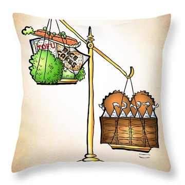 Chocolate Always Wins Throw Pillow