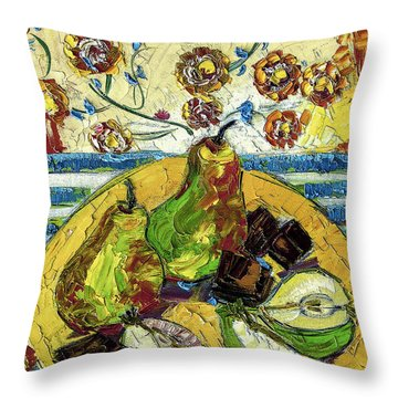 Chocolate And Pears Provence Throw Pillow
