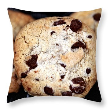 Chocolate Chip Cookies Throw Pillow by John Rizzuto