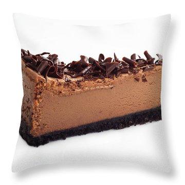 Chocolate Chocolate Cheesecake - Dessert - Baker - Kitchen Throw Pillow by Andee Design