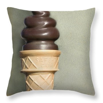 Chocolate Dipped Cone Throw Pillow