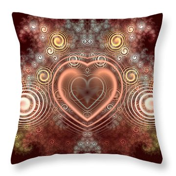 Chocolate Heart Throw Pillow by Svetlana Nikolova