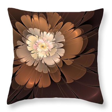 Throw Pillow featuring the digital art Chocolate Lilly by Svetlana Nikolova