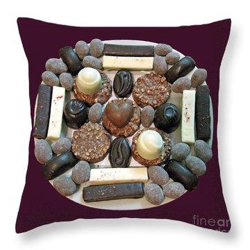 Chocolate Mandala Throw Pillow by Ausra Huntington nee Paulauskaite