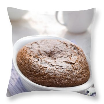 Chocolate Pudding Throw Pillow