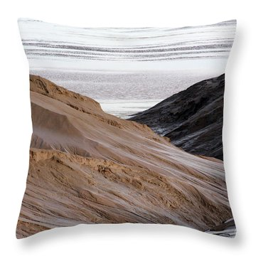 Chocolate River Throw Pillow