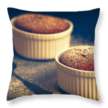 Chocolate Souffles Throw Pillow