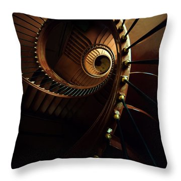 Chocolate Spirals Throw Pillow