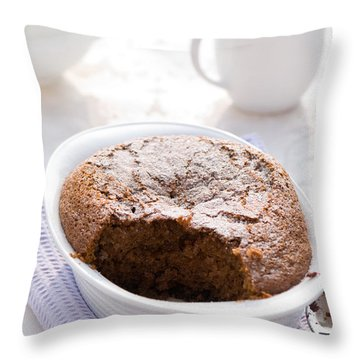 Chocolate Sponge Pudding Throw Pillow