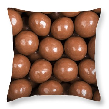 Chocolate Sweet Background Throw Pillow by Jane Rix