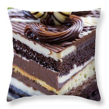 Chocolate Temptation Throw Pillow by Edward Fielding