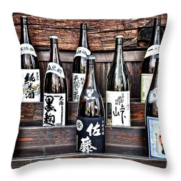Choice Of Sake Throw Pillow by Delphimages Photo Creations