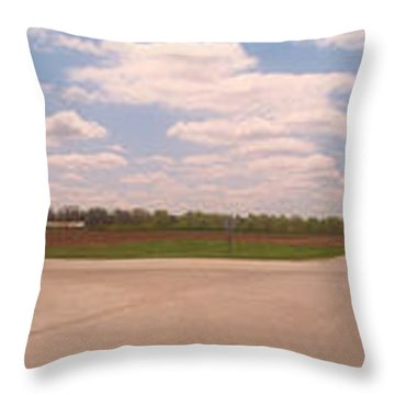 Choices At The Cross Roads Panorama Throw Pillow by Thomas Woolworth