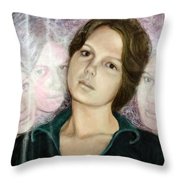 Choices Portrait Of Eva Lynn Horton Throw Pillow