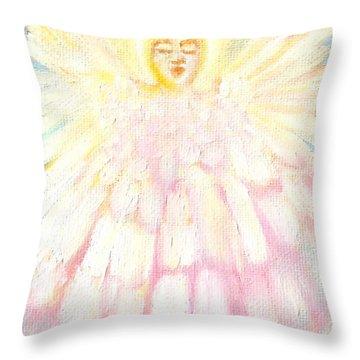 Choiring Angel Throw Pillow