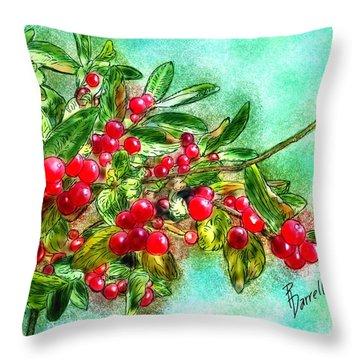 Chokecherry Branch Throw Pillow