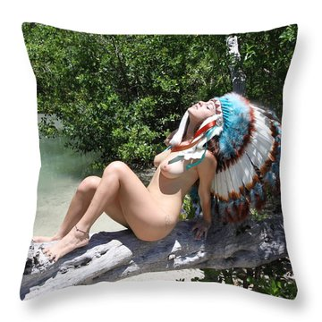 Chokoskee Island Fl. Indian 086 Throw Pillow