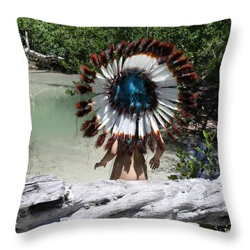 Chokoskee Island Fl. Indian 119 Throw Pillow