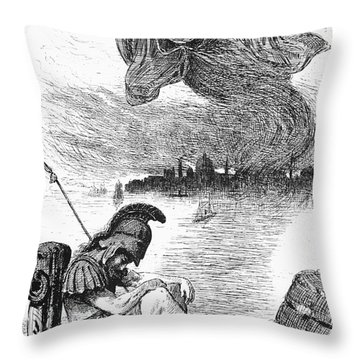 Cholera Cartoon, 1883 Throw Pillow by Granger