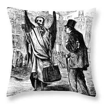 Cholera In Slums, 1866 Throw Pillow by Granger