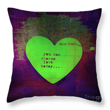 Choose Love Throw Pillow