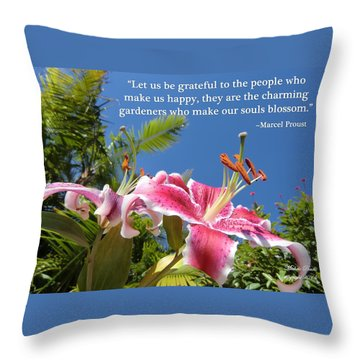 Choose Your Quote Choose Your Picture 17 Throw Pillow