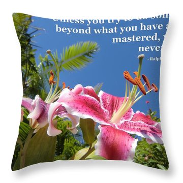Choose Your Quote Choose Your Picture 18 Throw Pillow