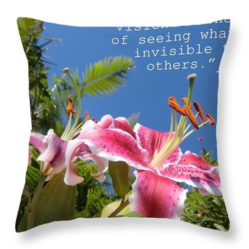 Choose Your Quote Choose Your Picture 19 Throw Pillow