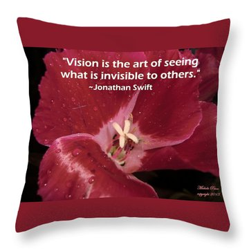 Choose Your Quote Choose Your Picture 6 Throw Pillow