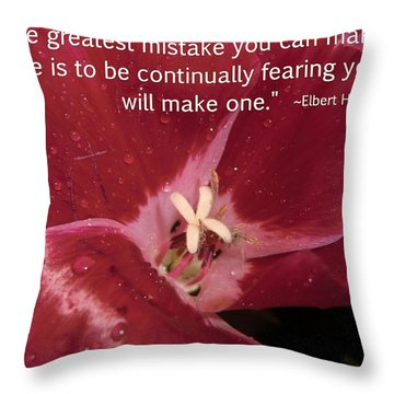 Choose Your Quote Choose Your Picture 8 Throw Pillow