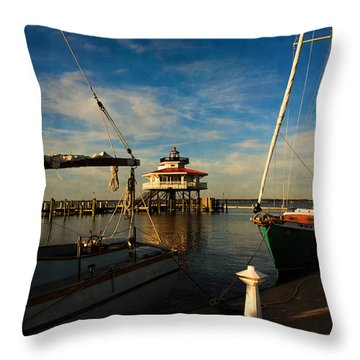 Choptank Lighthouse Throw Pillow