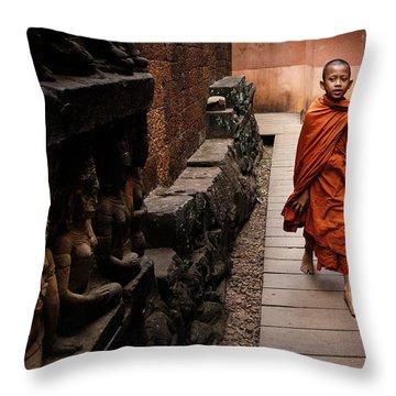 Monk Throw Pillows