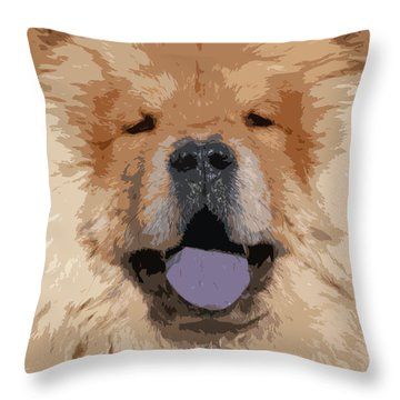 Chow Chow Throw Pillow by Nancy Merkle