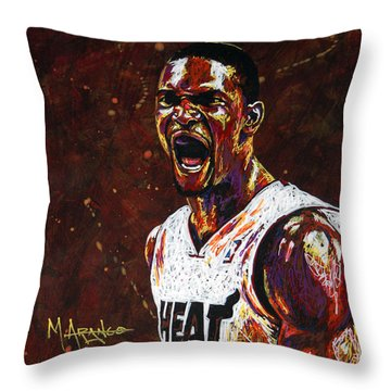Chris Bosh Throw Pillow by Maria Arango