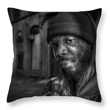 Chris Bw Throw Pillow by Rick Mosher