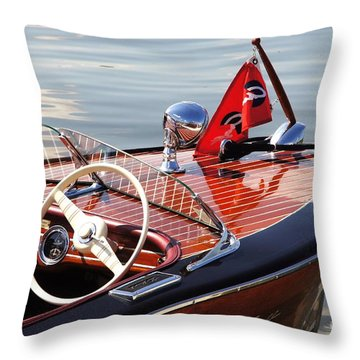 Chris Craft Deluxe Runabout Throw Pillow