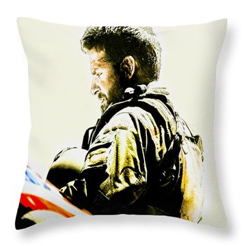 Chris Kyle Throw Pillow