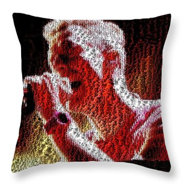 Chris Martin - Montage Throw Pillow