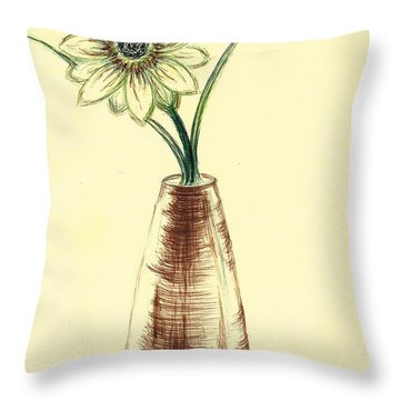 Chrysanthemum Flower Throw Pillow by Teresa White
