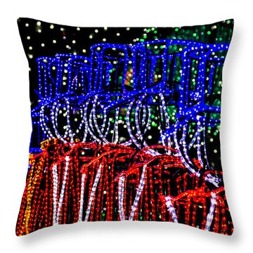 Christmas Soldiers Throw Pillow