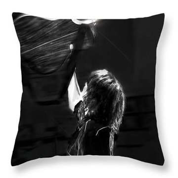 Chrissie Hynde Encore By Denise Dube Throw Pillow