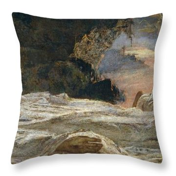 Christ And Mary Magdalene Throw Pillow by Eugenio Prati