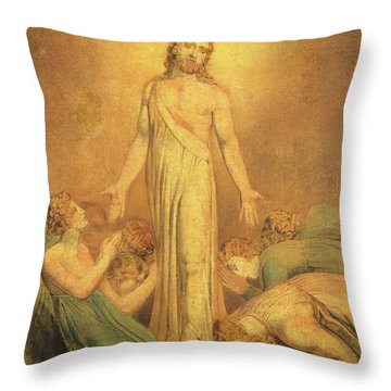 Christ Appearing To The Apostles After The Resurrection Throw Pillow