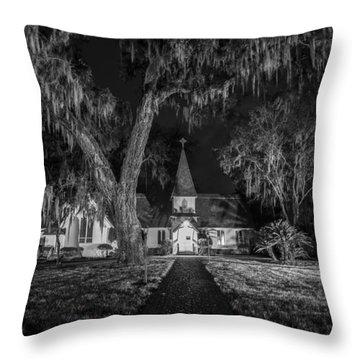 Christ Church Bw Throw Pillow by Debra and Dave Vanderlaan