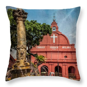 Christ Church Malacca Throw Pillow by Adrian Evans