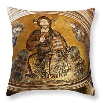 Christ In Majesty  Pisa Duomo Throw Pillow by Liz Leyden