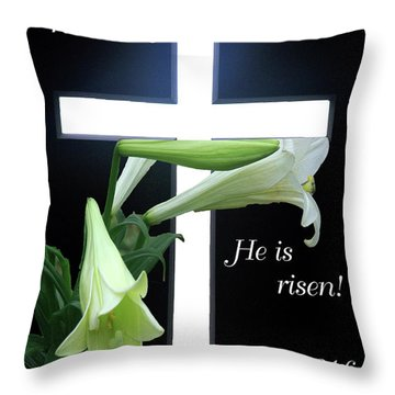 Christ Is Risen Throw Pillow by Robyn Stacey
