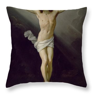 Christ On The Cross Throw Pillow